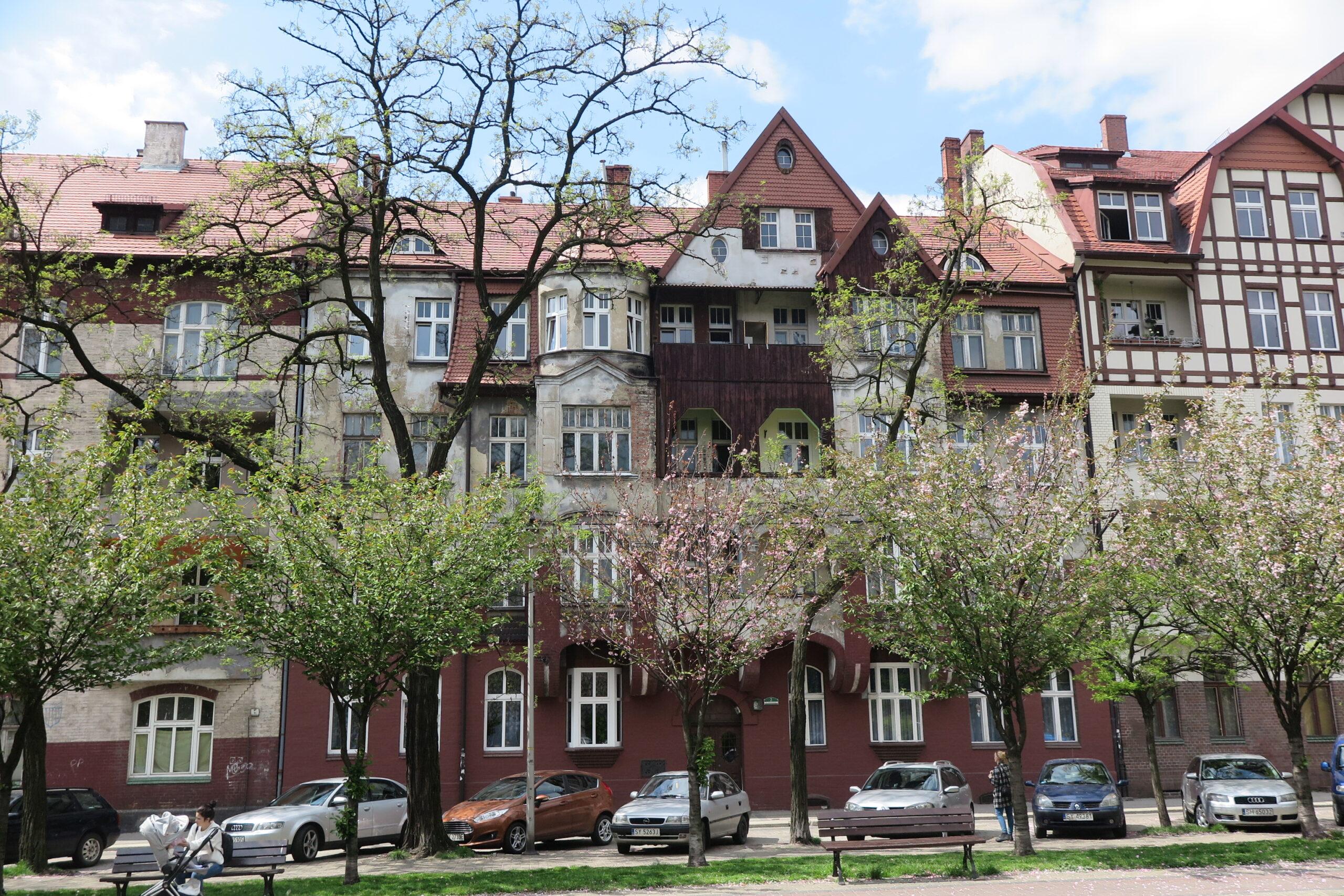 Widok na zabudowę placu Słowiańskiego, fot. A. Olczyk OT NID Katowice